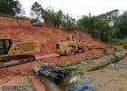 浦北石冲至钦州二级公路大成水盏垌路段,正在施工