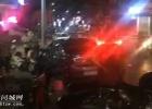 邮政局路段一小车险些冲上人行道旁边车辆倒地,吓得食客纷纷起身