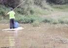 因修建石埇至钦州二级公路,施工方环保措施未做好造成大量鱼死亡