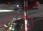 进城大道一男子头部受重伤送医院抢救,事故摩托车与小车发生碰撞