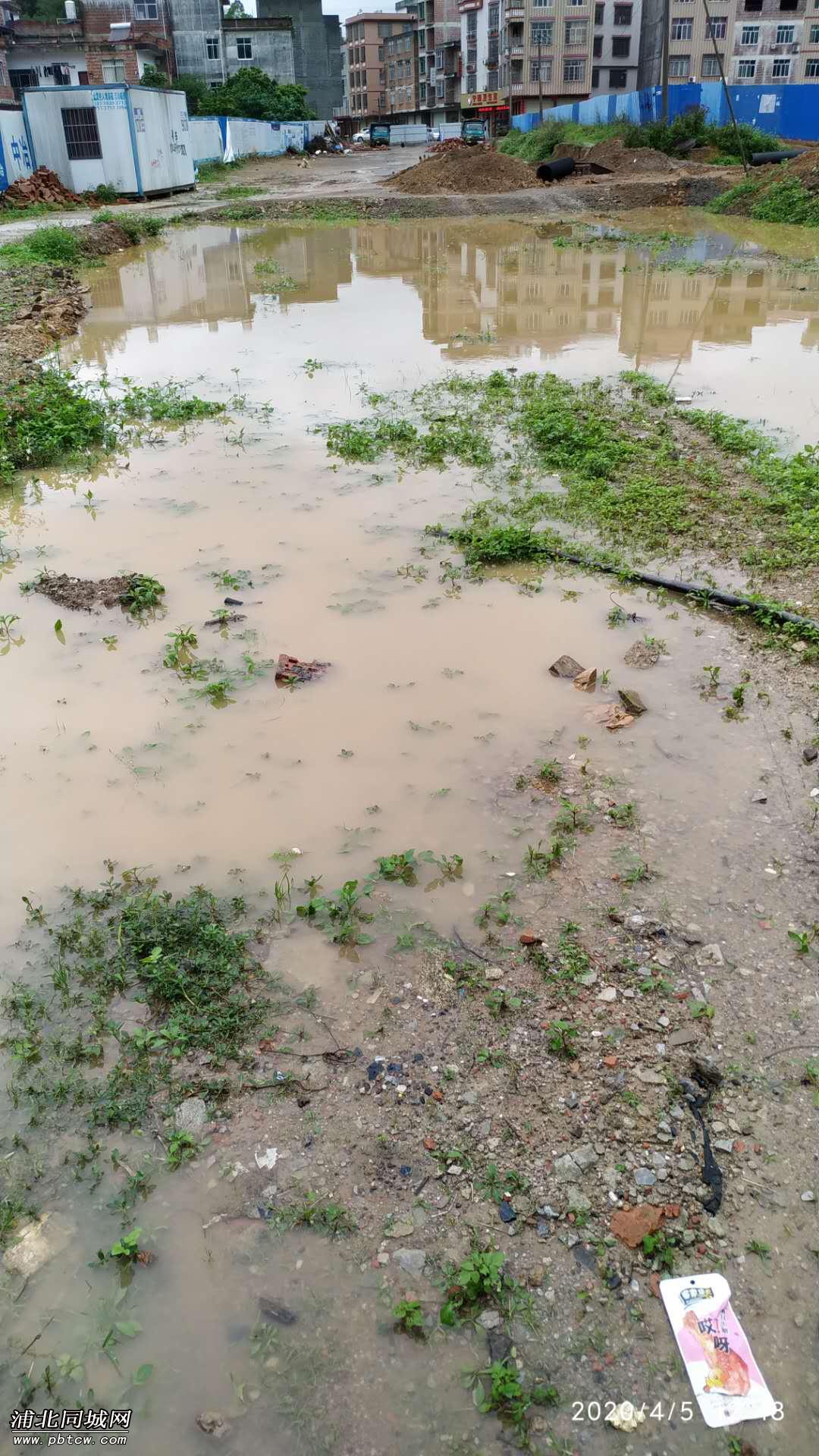 雨水污水堆积