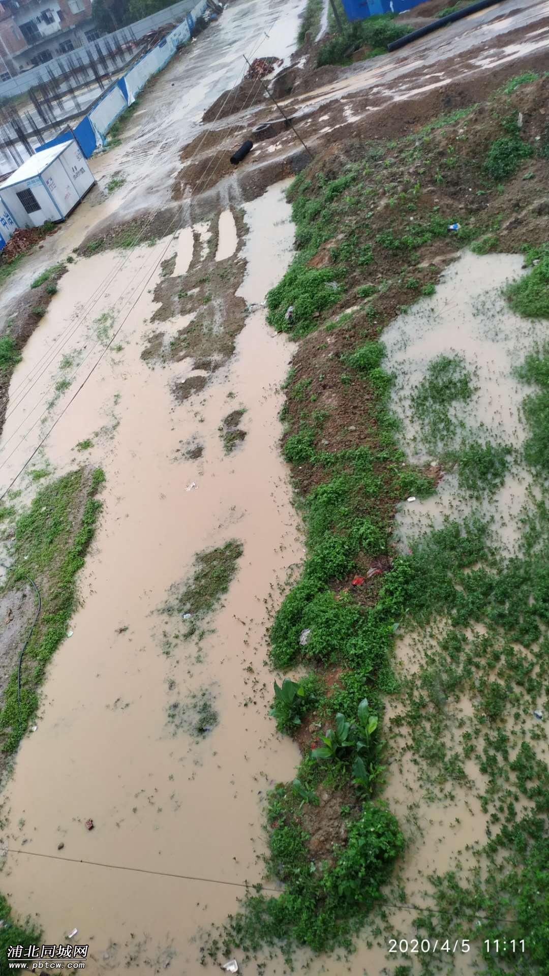 唯一的排水口被填埋